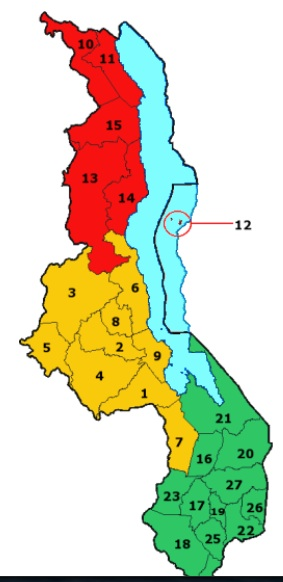Malawi Map Districts
